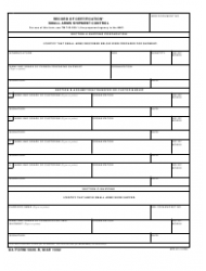 DA Form 5026-R Record of Certification - Small Arms Shipment Control (Lra)