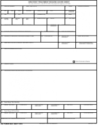 DA Form 3647 Inpatient Treatment Record Cover Sheet