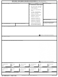DA Form 3647-1 Inpatient Treatment Record Cover Sheet (For Plate Imprinting)