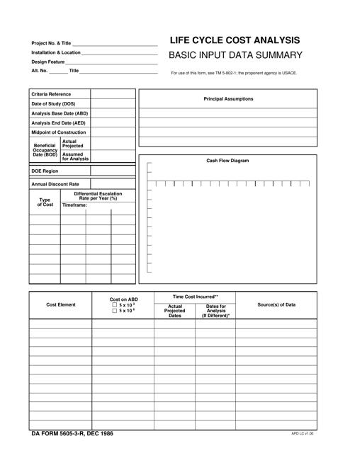 DA Form 5605-3-R Fillable Pdf