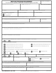 DA Form 5027-R Medcase Program Requirement (Lra)