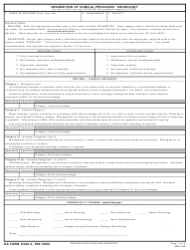 DA Form 5440-4 Delineation of Clinical Privileges-Neurology