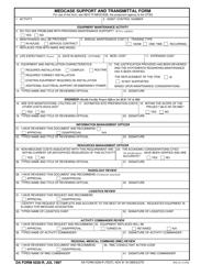 DA Form 5028-R Medcase Support and Transmittal Form (Lra)