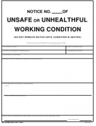 DA Form 4753 Notice of Unsafe or Unhealthful Working Condition