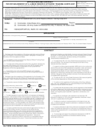 DA Form 3126 Application and Contract for Establishment of a Junior Reserve Officers' Training Corps Unit (S&i, HQDA, Attn: Tapc-Opp-P, 200 Stovall St., Alexandria, VA 22332-0418)