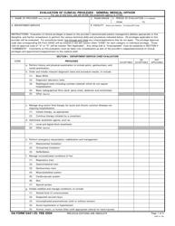 DA Form 5441-25 Evaluation of Clinical Privileges - General Medical Officer