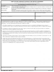 DA Form 4322 Army Officer Candidate Contract and Service Agreement