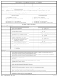 DA Form 5440-6 Delineation of Clinical Privileges-Optometry Service