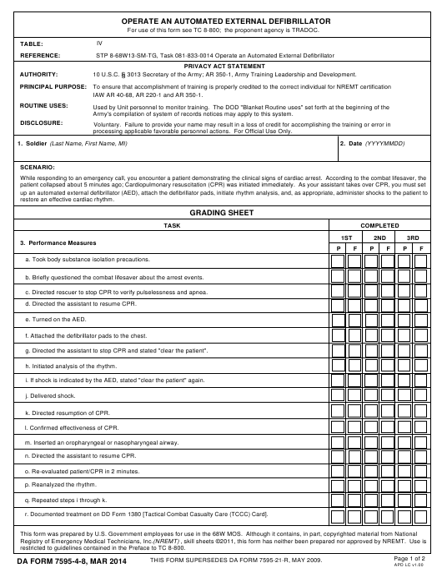 DA Form 7595-4-8  Printable Pdf