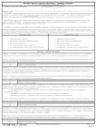 DA Form 5440-13 Delineation of Clinical Privileges-General Surgery