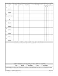 "DA Form 5643-R ""Physical Demands Analysis Worksheet"", Page 2"