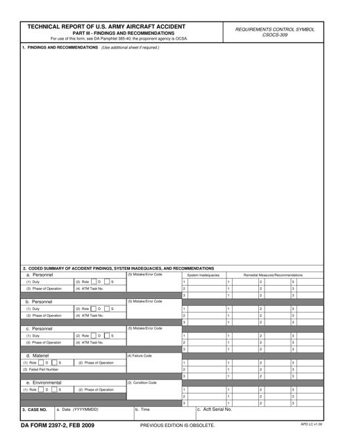 DA Form 2397-2  Printable Pdf