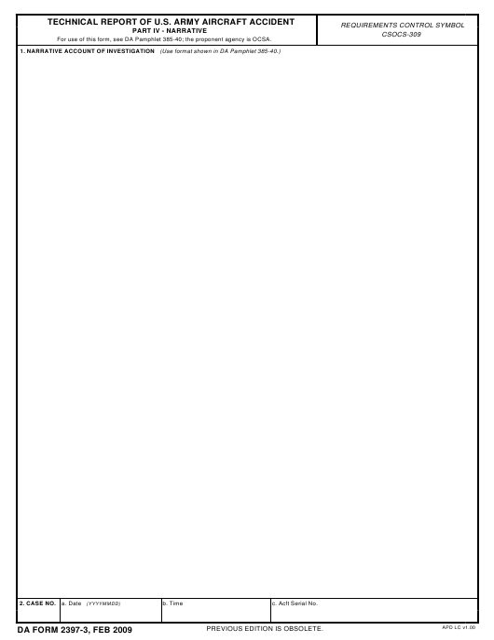 DA Form 2397-3  Printable Pdf