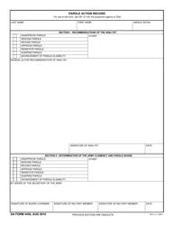 DA Form 4459 Parole Action Record