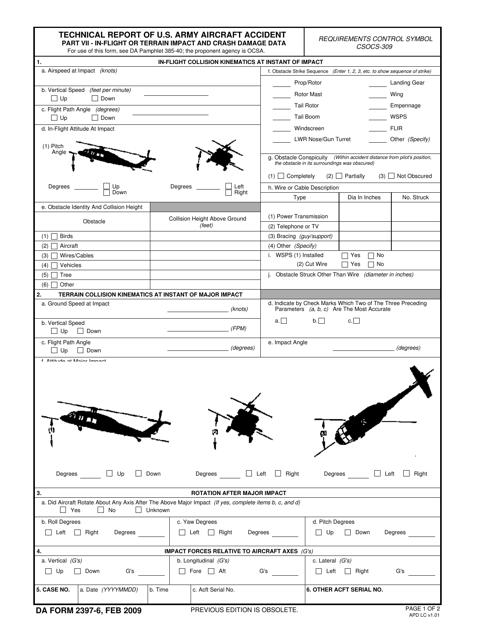 DA Form 2397-6 Fillable Pdf