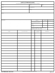 DA Form 4843  Fillable Pdf