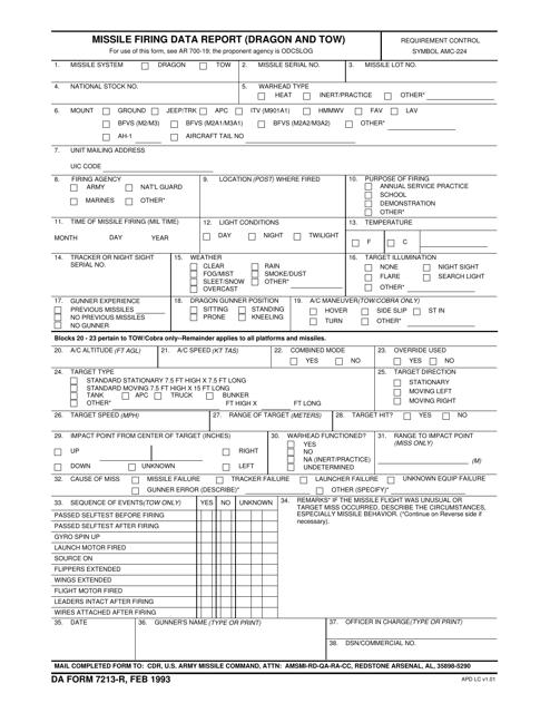 DA Form 7213-R  Printable Pdf