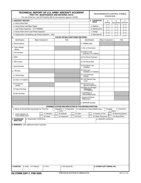DA Form 2397-7  Printable Pdf
