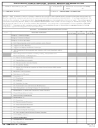 DA Form 5441-41 Evaluation of Clinical Privileges - Physical Medicine and Rehabilitation