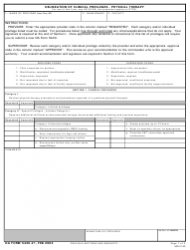 DA Form 5440-21 Delineation of Clinical Privileges - Physical Therapy