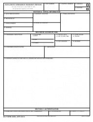 DA Form 3265  Fillable Pdf