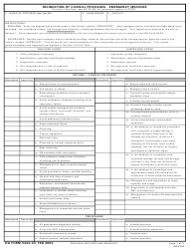 DA Form 5440-23 Delineation of Clinical Privileges - Emergency Medicine