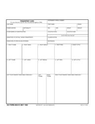 DA Form 2663-R Fingerprint Card (Lra)