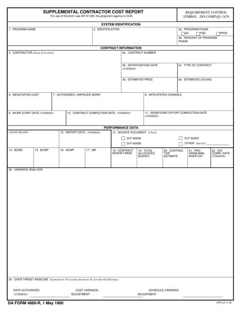DA Form 4880-R Printable Pdf