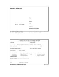 DA Form 2666-R Prisoner of War Notification of Address/Prisoner of War Mail