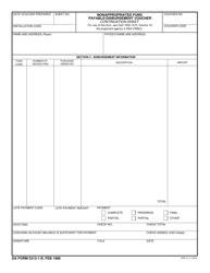 DA Form 5313-1-R Nonappropriated Fund Payable/Disbursement Voucher