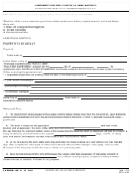 DA Form 4881-5 Agreement for the Lease of Us Army Materiel