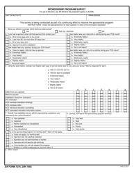 DA Form 7274 Sponsorship Program Survey