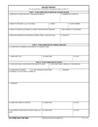 DA Form 5329 Escort Report