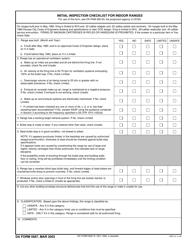 DA Form 5687 Initial Inspection Checklist for Indoor Ranges