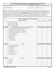DA Form 5441-58 Evaluation of Clinical Privileges - Substance Abuse Rehabilitation