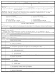 DA Form 5440-41 Delineation of Clinical Privileges - Physical Medicine and Rehabilitation