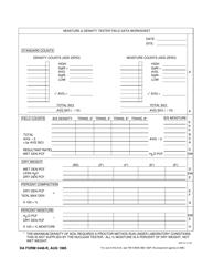 DA Form 5448-R Moisture and Density Tester Field Data Worksheet