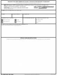 DA Form 5454 Request for Army/American Council on Education Registry Transcript