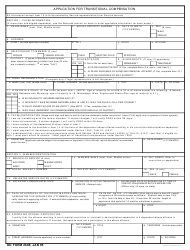 DD Form 2698 Application for Transitional Compensation