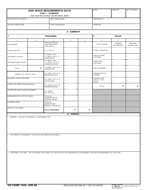 DD Form 1450  Printable Pdf