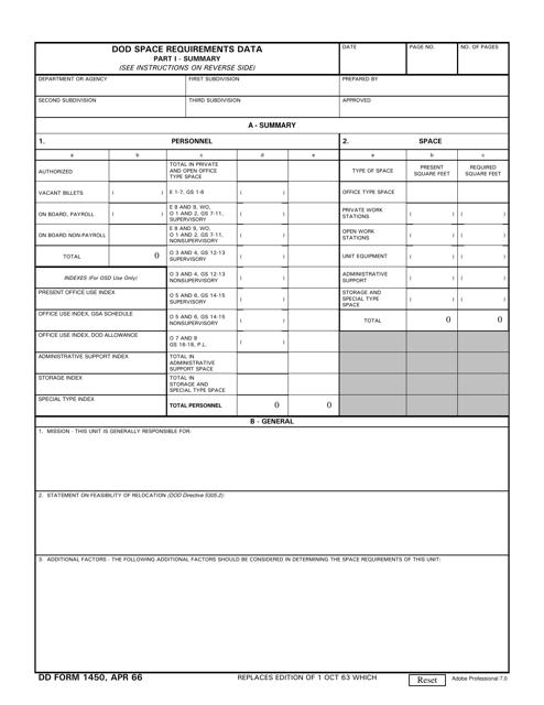 DD Form 1450 Fillable Pdf