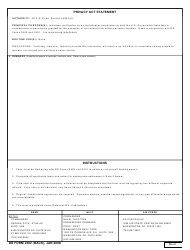DD Form 2402 Civil Aircraft Hold Harmless Agreement, Page 2