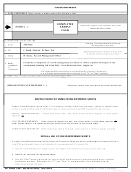 DD Form 2861 Cross-reference