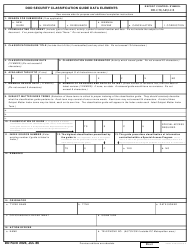DD Form 2024 Dod Security Classification Guide Data Elements