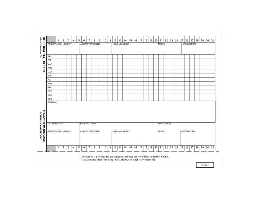DD Form 314 Fillable Pdf