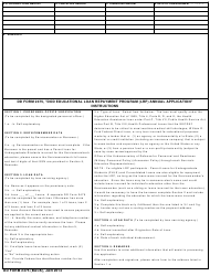 DD Form 2475 DoD Educational Loan Repayment Program (LRP) Annual Application, Page 2