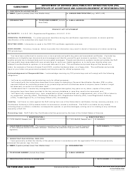DD Form 2842 Dod Public Key Infrastructure (pki) Subscriber Certificate Acceptance And Acknowledgement Of Responsibilities