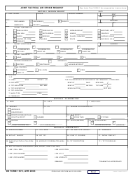 DD Form 1972 Joint Tactical Air Strike Request
