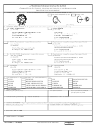 DD Form 3 Application for Gold Star Lapel Button