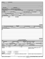 DD Form 1801 DoD International Flight Plan